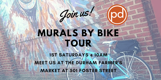 Durham's Murals by Bike Tour