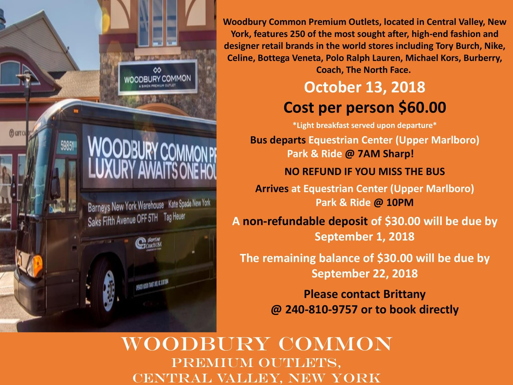 Woodbury Common Premium Outlets Shopping Trip - 13 OCT 2018