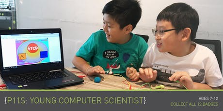 Coding for Kids - P11S: Young Computer Scientist (Ages 7-9) @ Upp Bukit Timah (By Term) tickets
