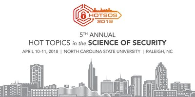 2019 Hot Topics in the Science of Security Symposium (see instructions below)