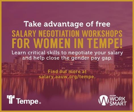 AAUW Work Smart in Tempe at the City of Tempe Library - Sept. 29