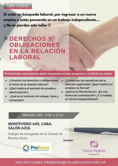 Derechos y obligaciones en la relación labora