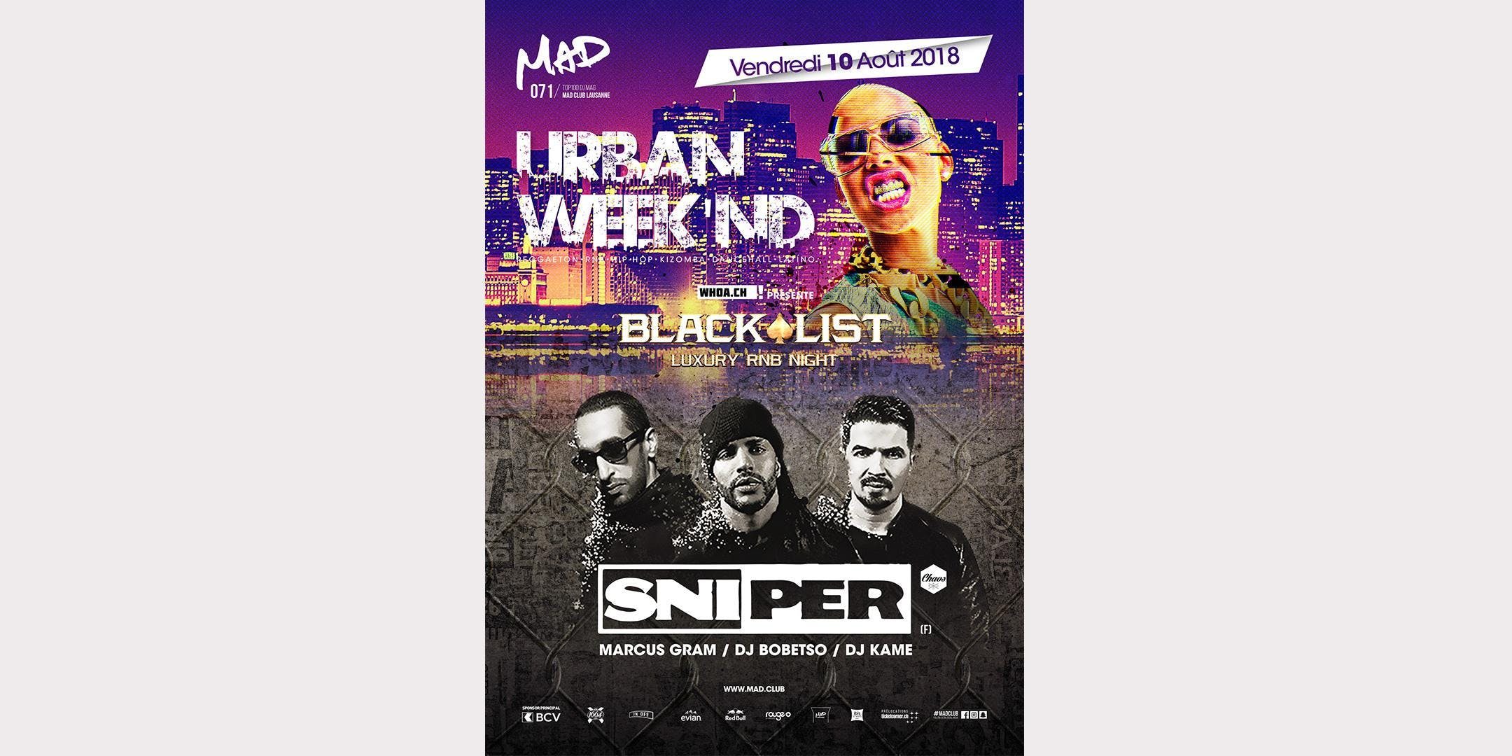 URBAN WEEK'ND - BLACKLIST - SNIPER (F)