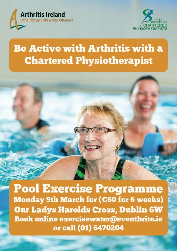 'Be active with arthritis' Pool based exercise courses, Cork City