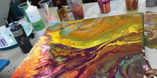 Pourology: Custom Acrylic Poured Canvases. Art for all skill levels!