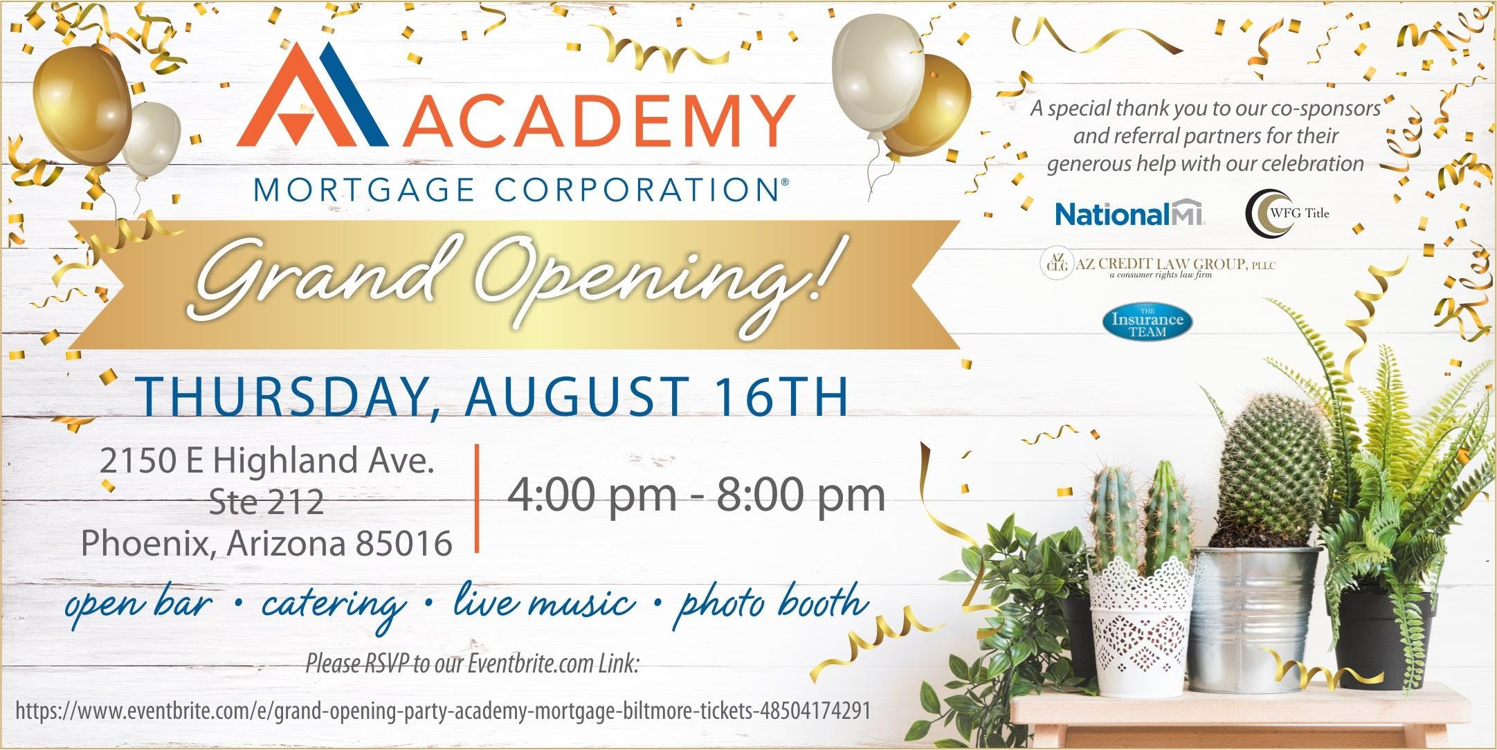 Grand Opening Party - Academy Mortgage, Biltmore