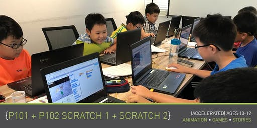 Coding for Kids - P101+P102: Scratch 1+2 Course (Ages 10-12) @ Parkway Parade
