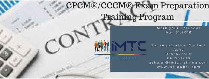 Contract Management Certification Programs - 31 AUG 2018