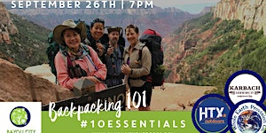 BCO & HTXO present Houston Outdoor Live: Backpacking...