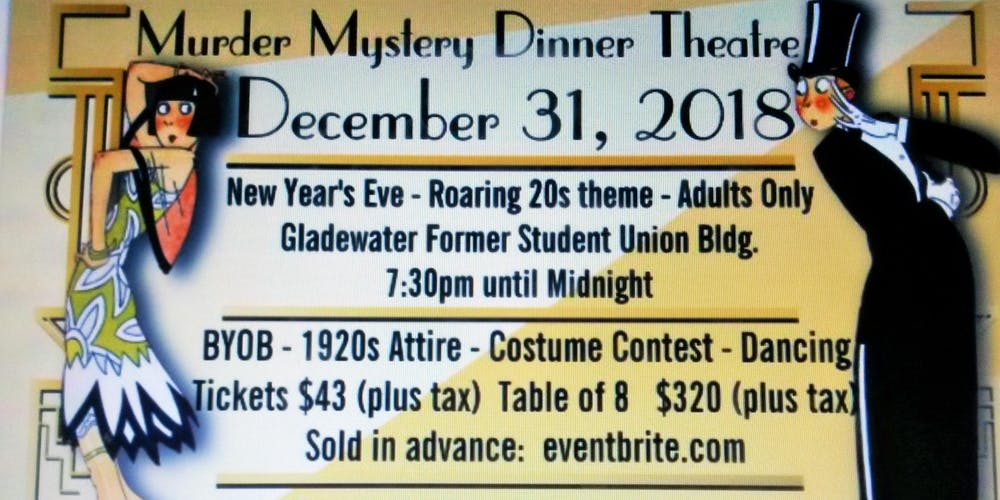New Year\'s Eve Comedy Murder Mystery Dinner Tickets, Mon, Dec 31 ...
