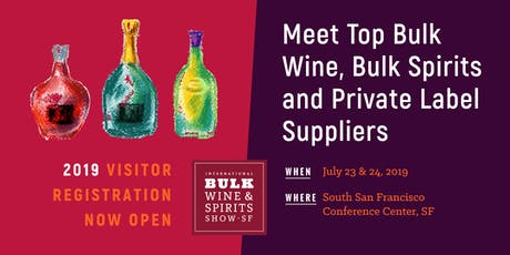 2019 International Bulk Wine and Spirits Show (Visitor Registration) tickets