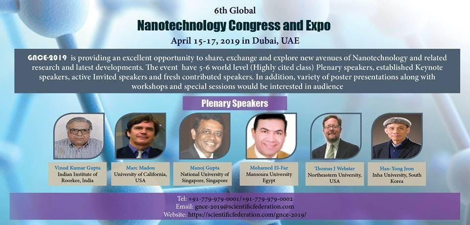 6TH GLOBAL NANOTECHNOLOGY CONGRESS AND EXPO