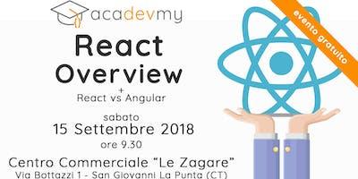 React Overview + React vs Angular
