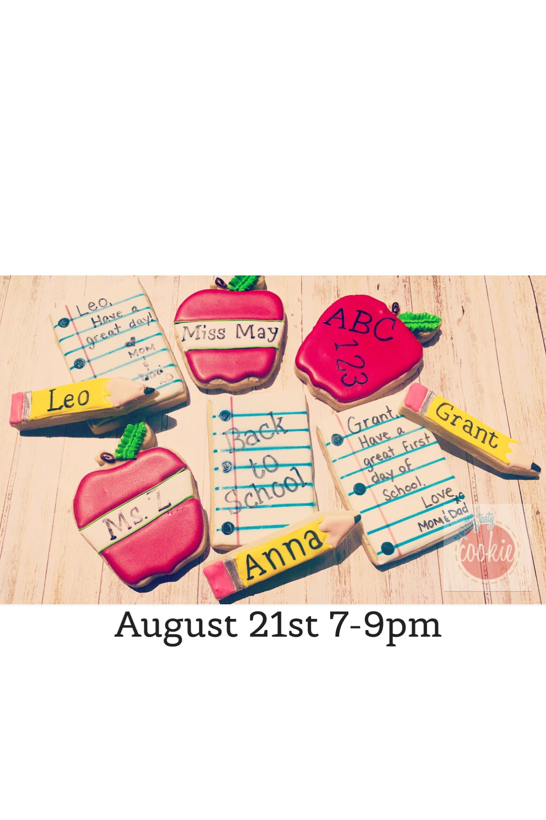 Back to School Cookie Decorating Class