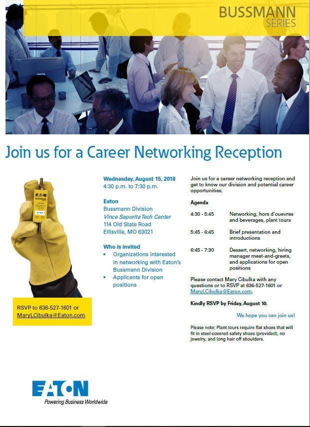 Career Networking Reception (Eaton Bussmann)
