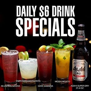 RA Sushi New Daily Drink Specials!