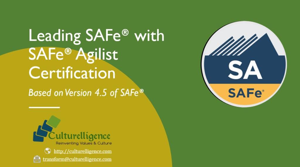 Leading Safe With Safe Agilist Sa Certification Raleigh Nc Sep