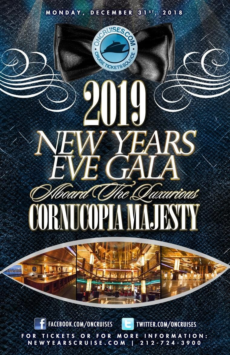 2019 New Year's Eve Gala Aboard The Luxurious