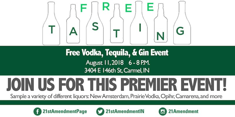 Indianapolis' Top Spirits Events and Vodka, Tequila, and Gin Tasting