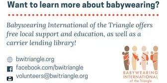 Raleigh Babywearing Learn & Play Meetup