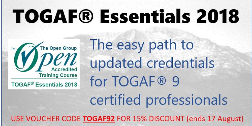 Togaf Essentials 2018 Tickets Multiple Dates Eventbrite