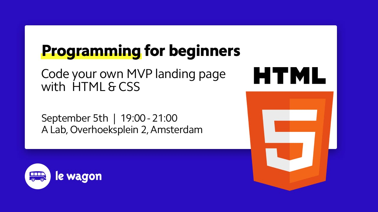 Code your landing page in 2 hours (Programmin