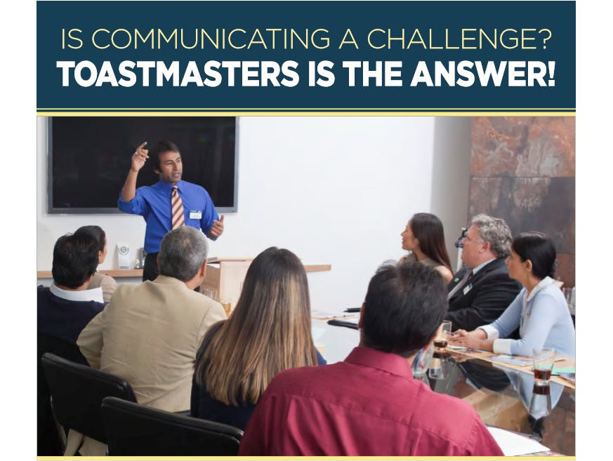 Toastmasters - Learn Public Speaking - Find y