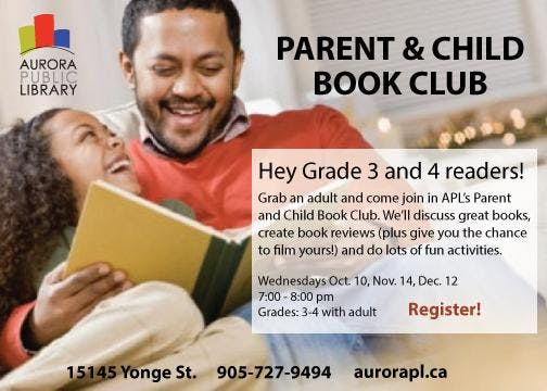 Parent and Child Book Club - Fall 2018