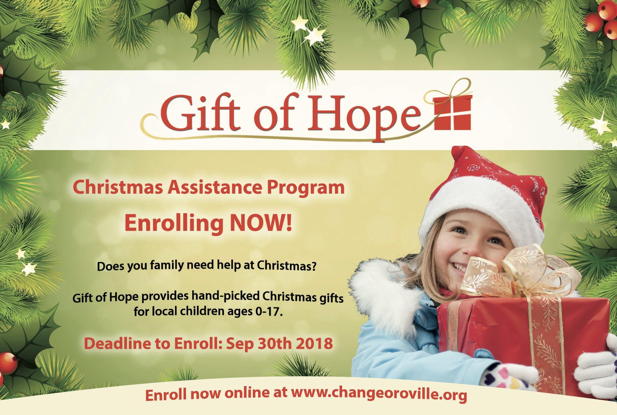 Gift of Hope 2018 Enrollment - 7 AUG 2018