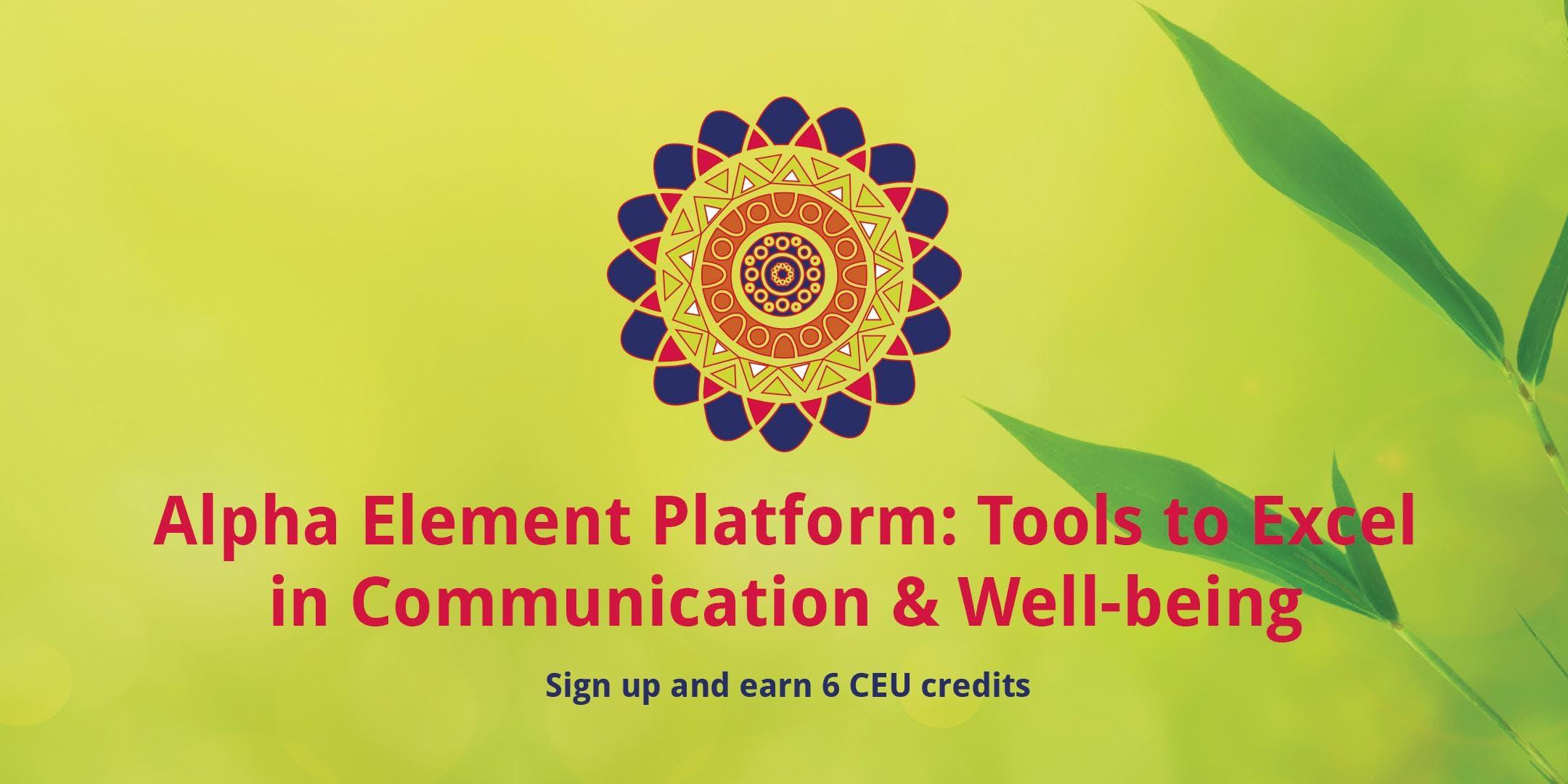 Alpha Element CEU Class - Mental Health Profe