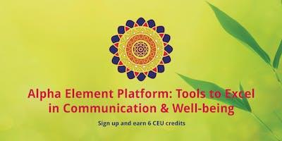 Alpha Element CEU Class - Mental Health Professionals