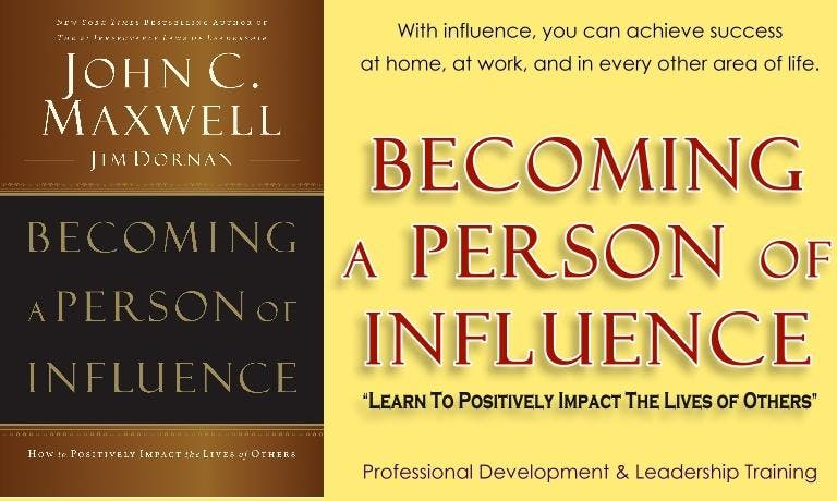 Become a Person of Influence  (Leadership & P