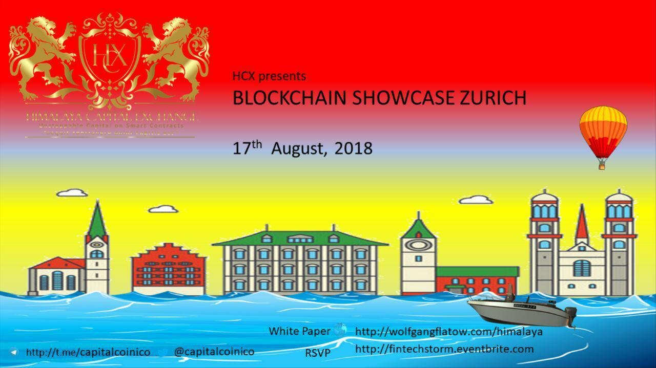 Himalaya Capital Exchange & Symphony ICOs -Blockchain Showcase - 17Aug Zurich 3-6pm