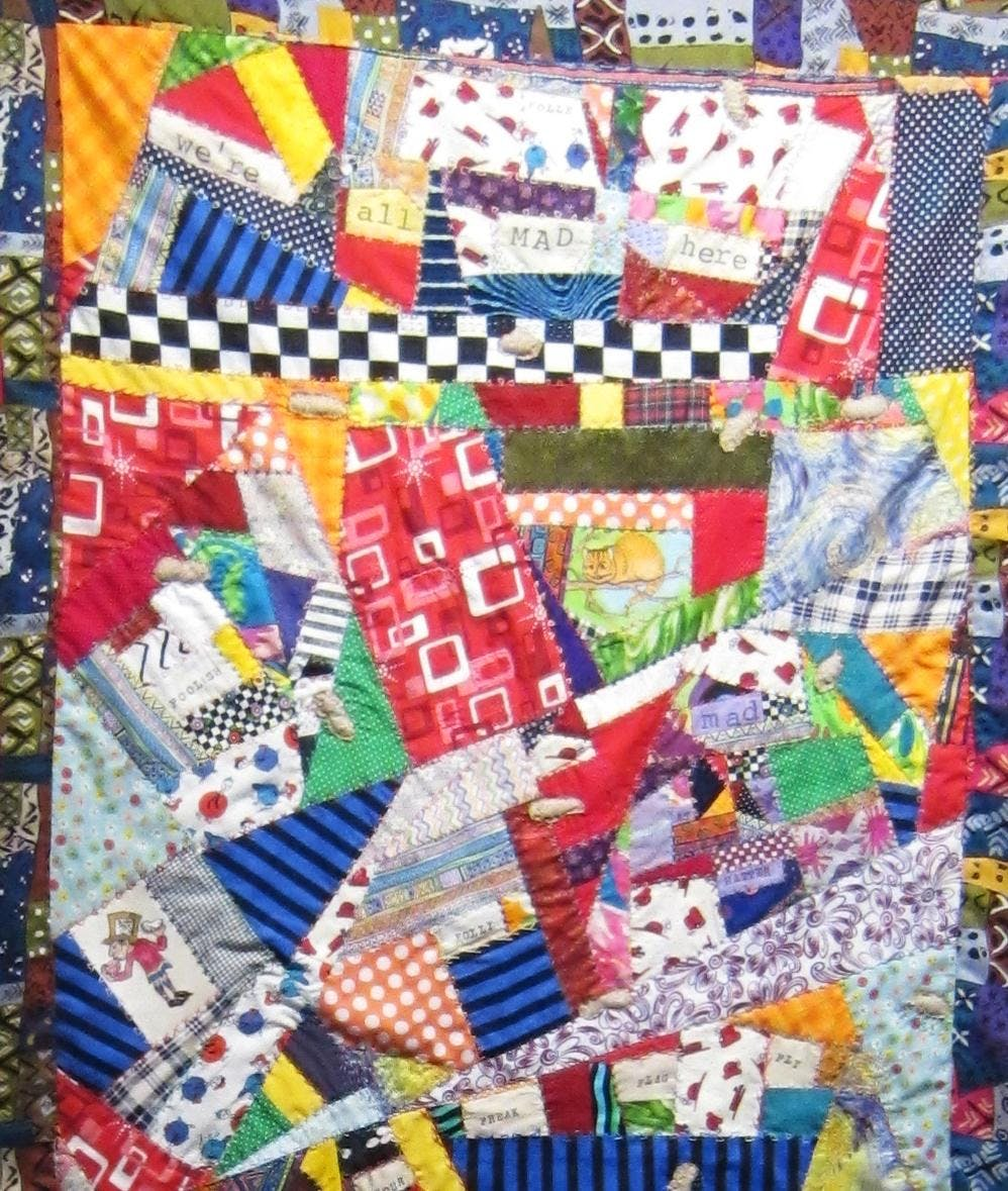 Crazy Quilting with local Madwoman Diane Wood