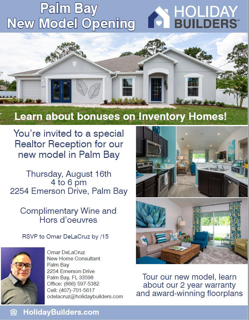 Holiday Builders Palm Bay New Model Opening