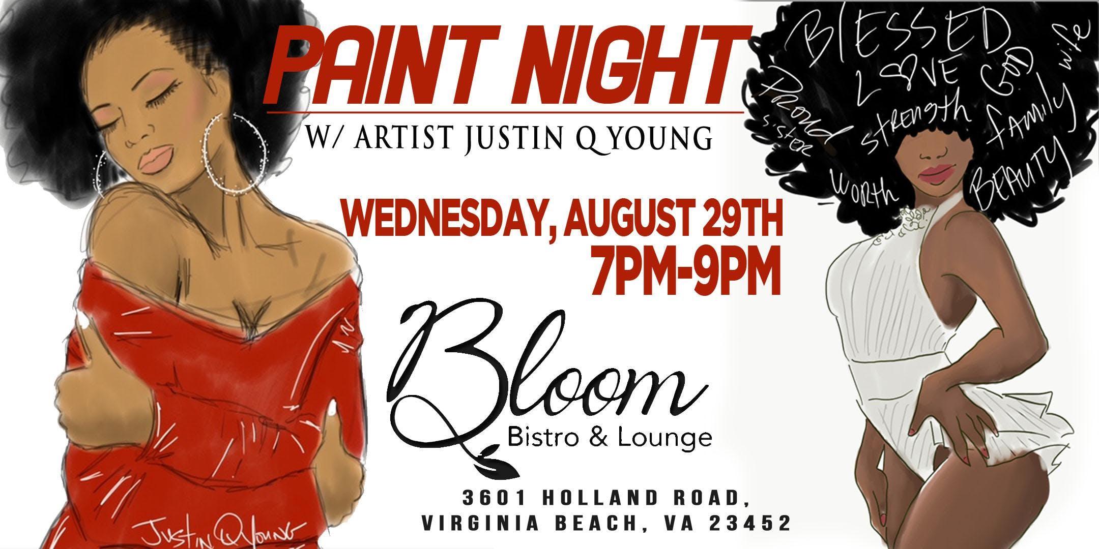 Paint Night Bloom Va Beach