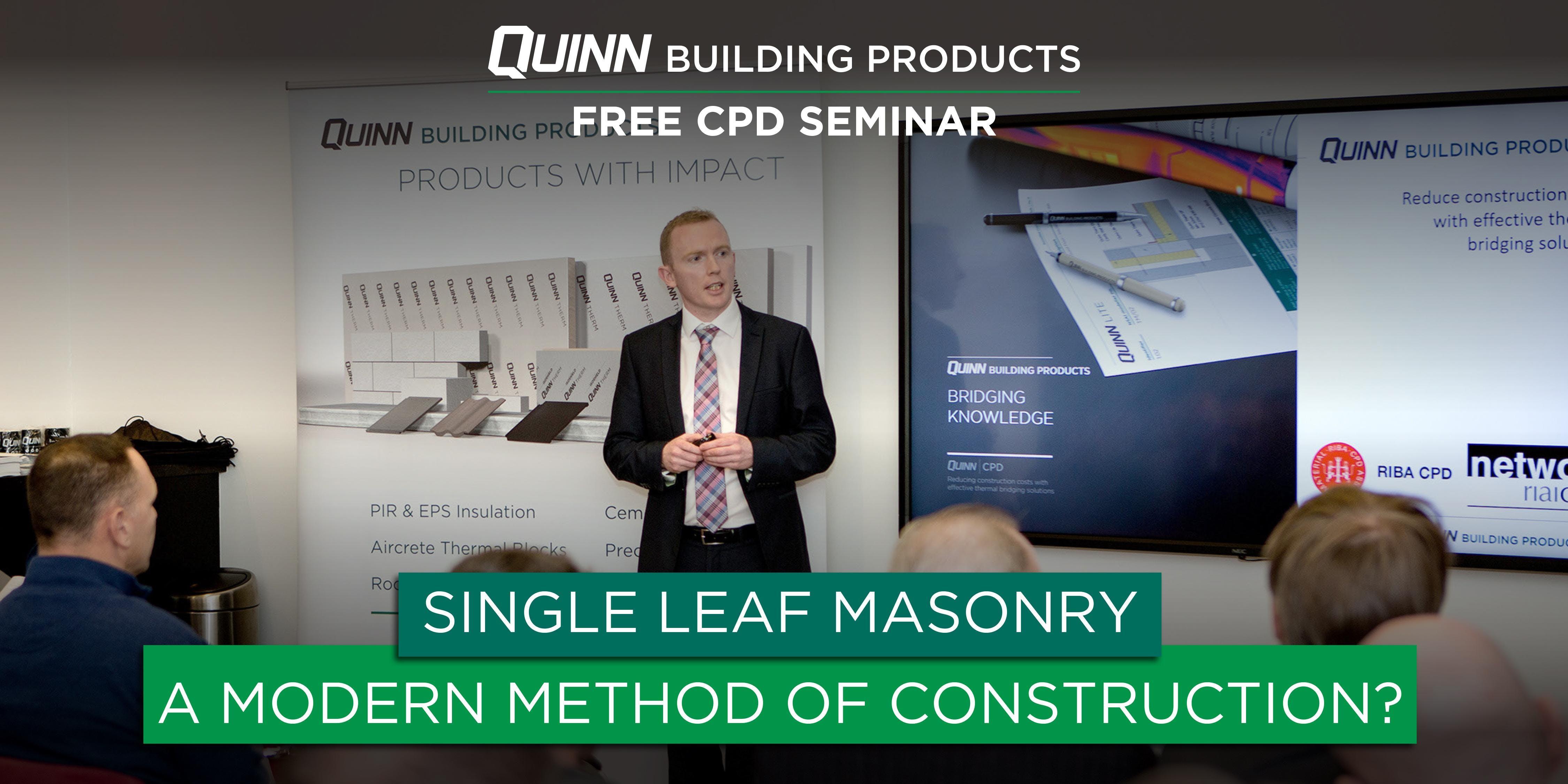 Wexford CPD Seminar: Single Leaf Masonry - A Modern Method of Construction?