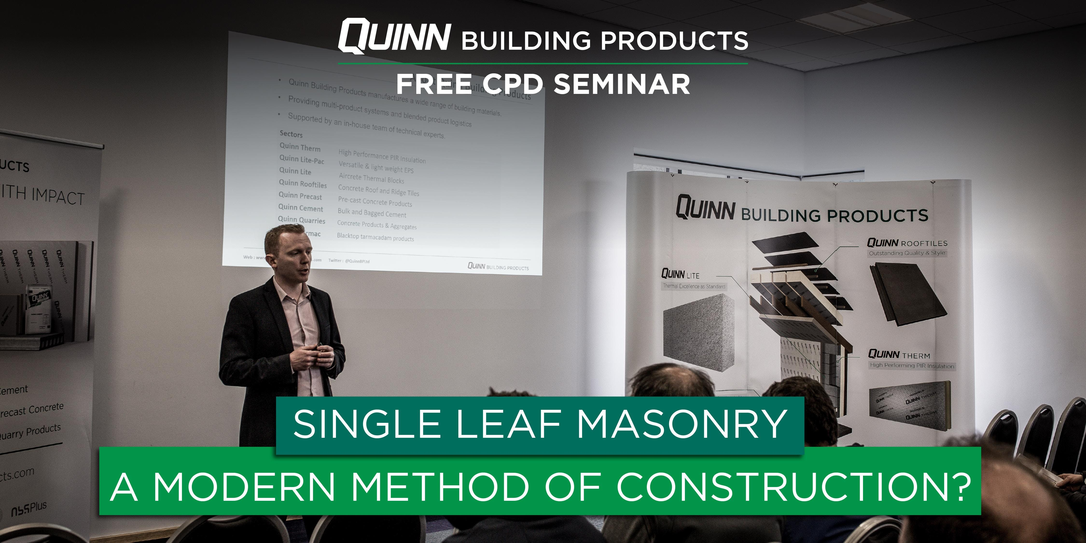Donegal CPD Seminar: Single Leaf Masonry - A Modern Method of Construction?