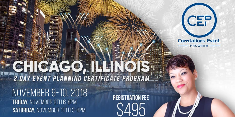 2 Day Chicago Event Planning Certificate Program November 9 10 2018