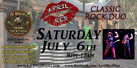 April Red is BACK to ROCK PJ Dolan's Irish Pub & Grill in Tampa! tickets