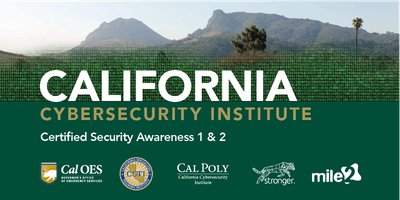 C)SA1/2 — Certified Security Awareness 1 & 2 /OnSite/ March 29, 2019