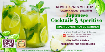 Rome Expats Japanese Cocktails & Aperitivo in the Garden