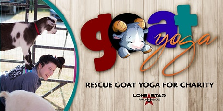 Goat Yoga With Lone Star Ranch and Rescue at Kelly's Art Shack in Downtown McKinney tickets