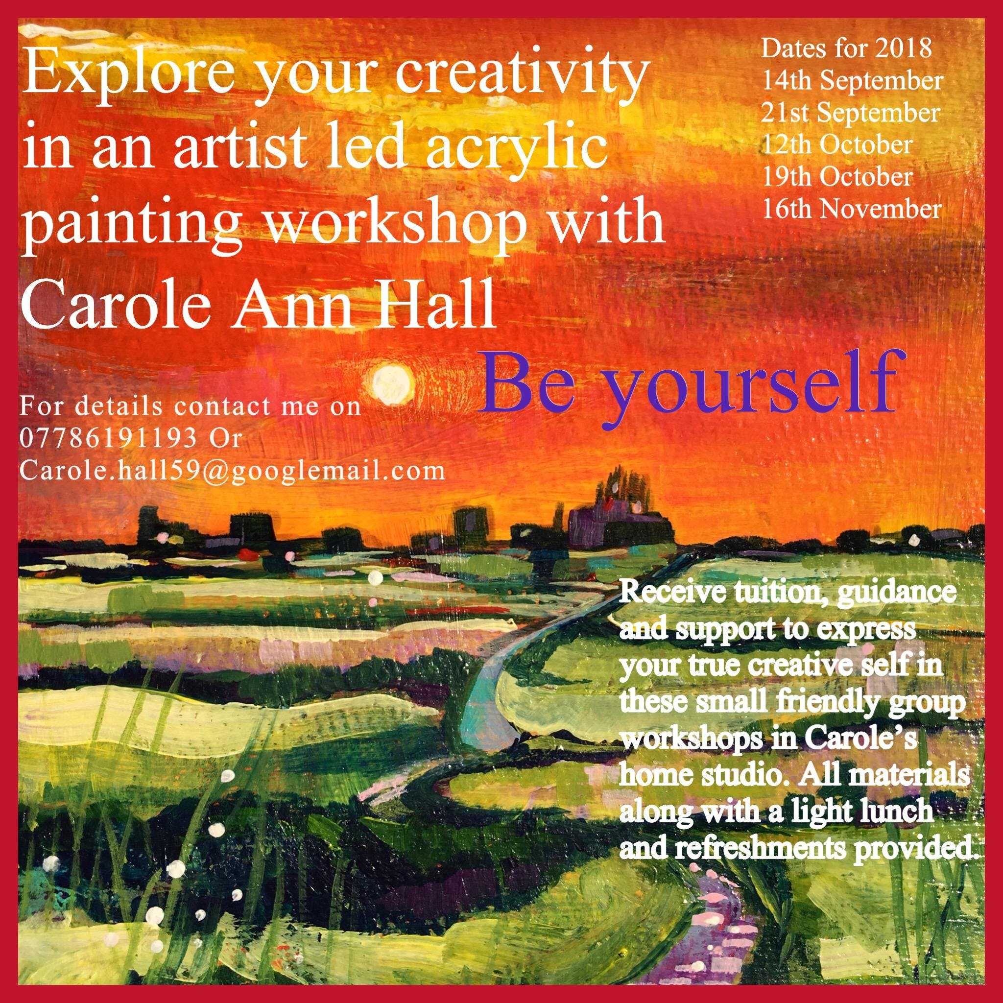 16th November Acrylic painting workshop - las