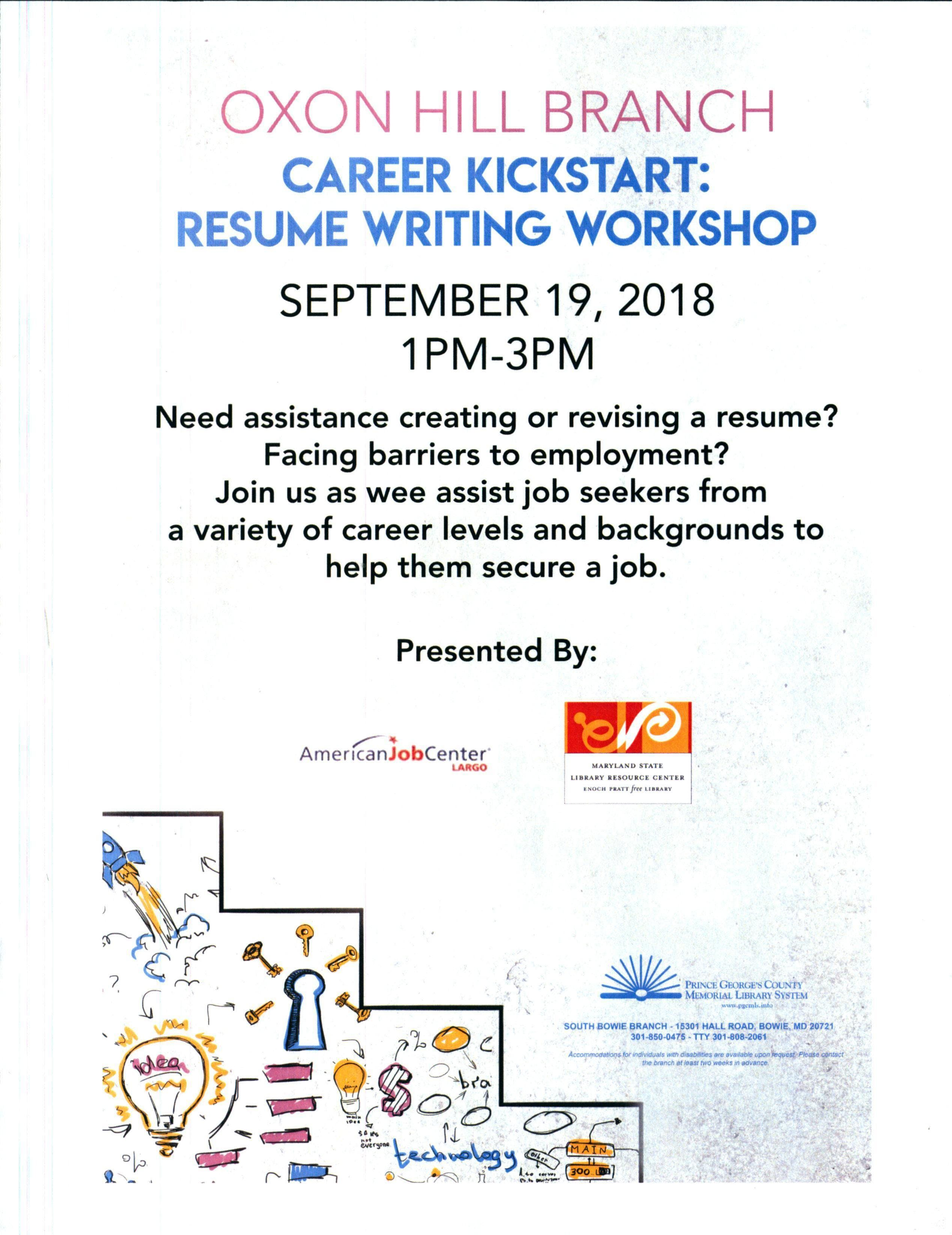 Career Kickstart Free Resume Workshop 19 Sep 2018