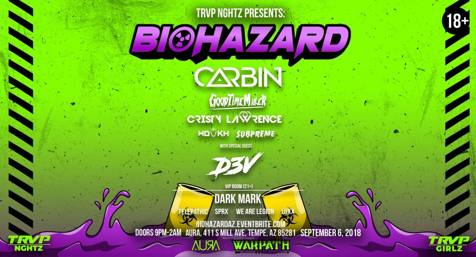 TRVP NGHTZ Presents CARBIN, D3V, CRISTY LAWRENCE & MORE! @ Aura Nightclub