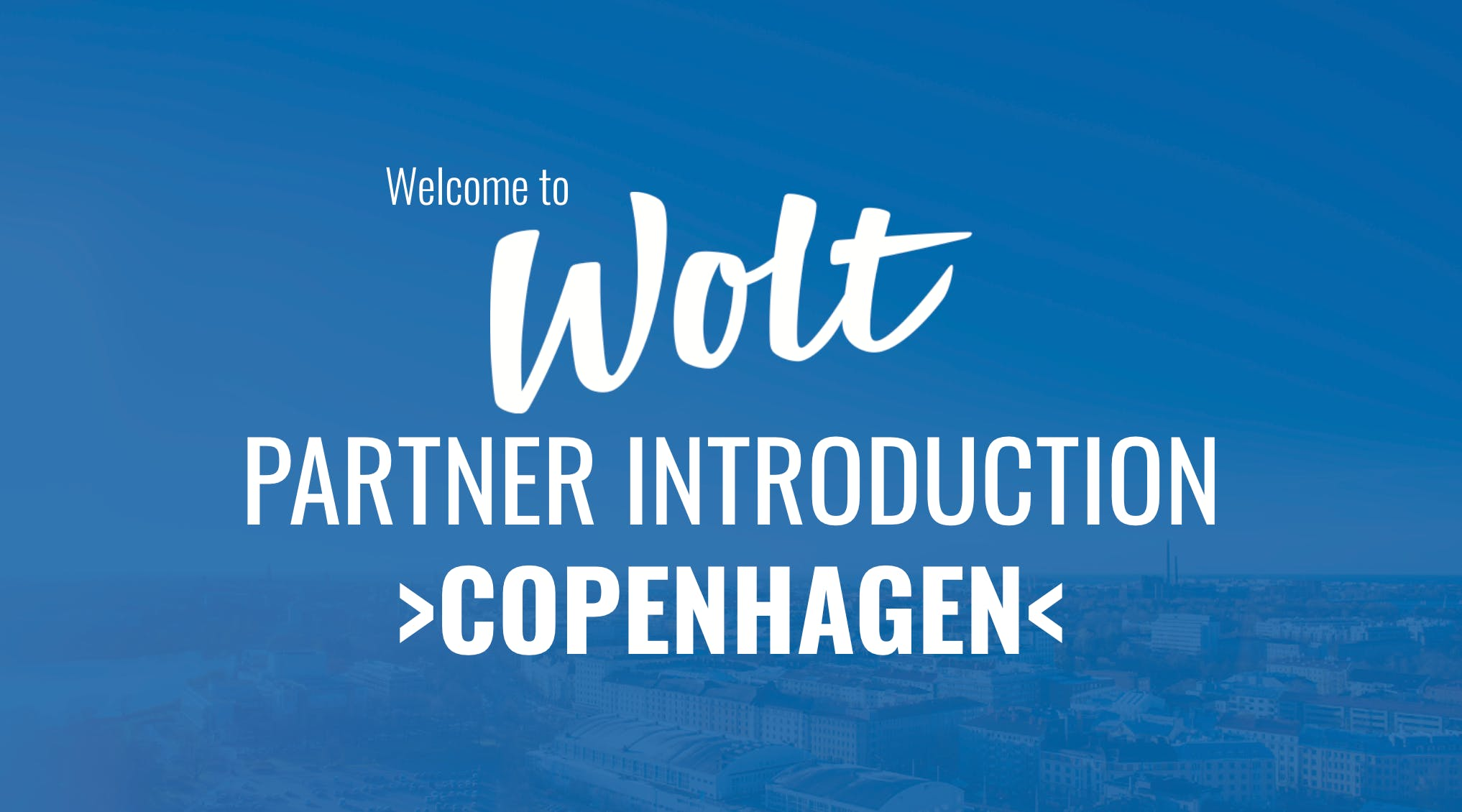Wolt Partner Intro - Copenhagen