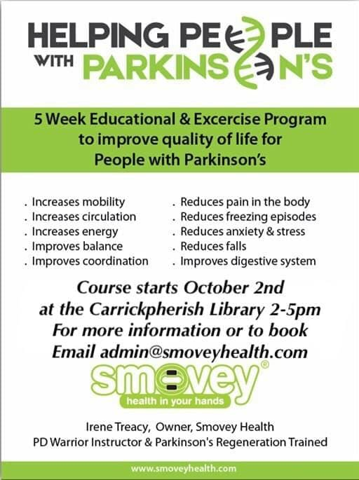 Helping People with Parkinson's Education and Exercise course