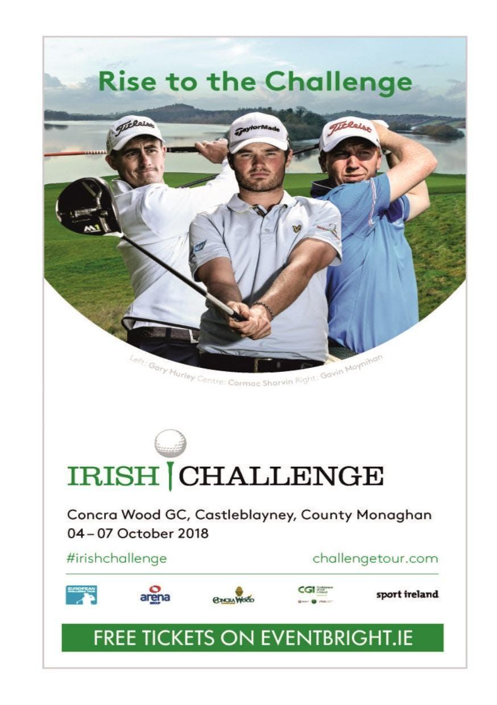 THE IRISH CHALLENGE 2018 AT CONCRA WOOD