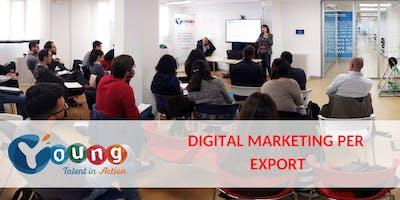 Corso gratuito di Digital Marketing per l'Export | Young Talent in Action 2018 | BERGAMO